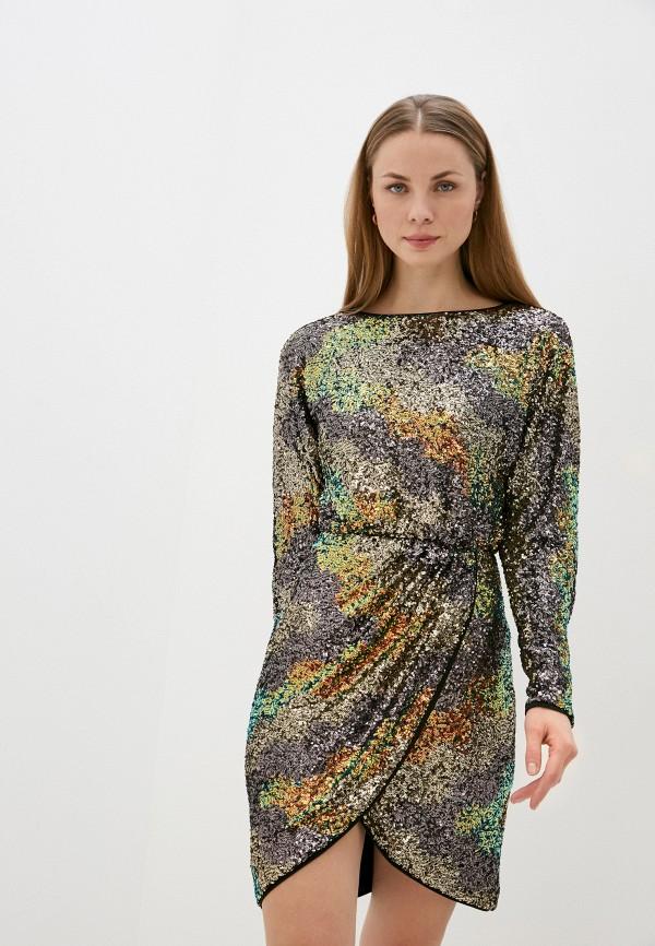 женское вечерние платье love republic, разноцветное