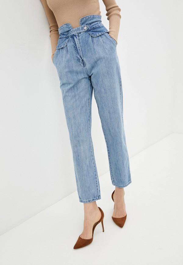 женские прямые джинсы love republic, голубые