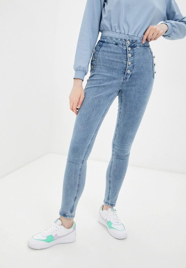 женские джинсы love republic, голубые