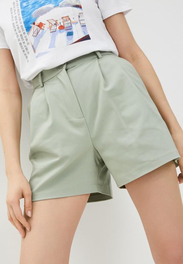 женские повседневные шорты love republic, зеленые