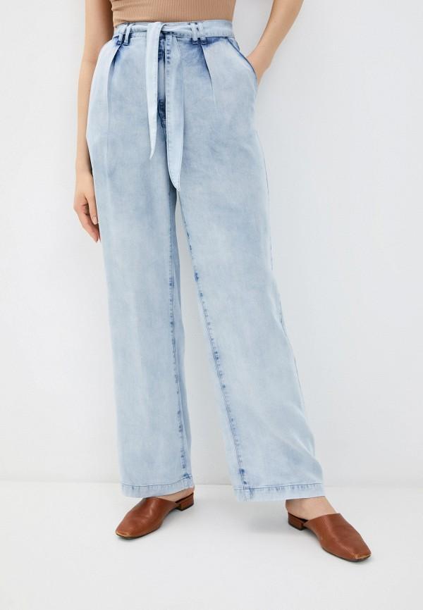женские джинсы клеш love republic, голубые