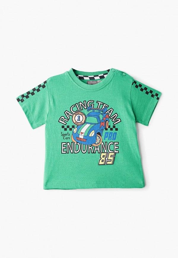 футболка с коротким рукавом losan для мальчика, зеленая