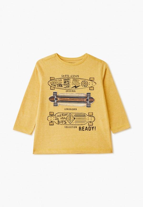 лонгслив losan для мальчика, желтый