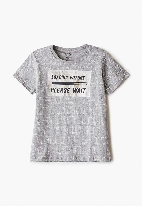 футболка с коротким рукавом losan для мальчика, серая