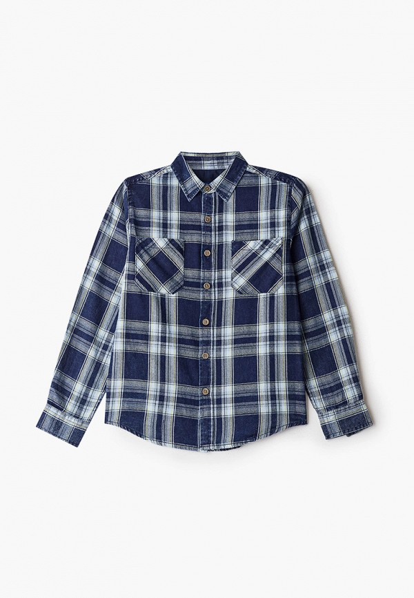 рубашка losan для мальчика, синяя