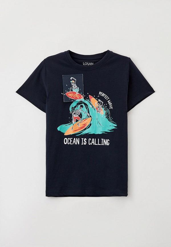футболка с коротким рукавом losan для мальчика, синяя