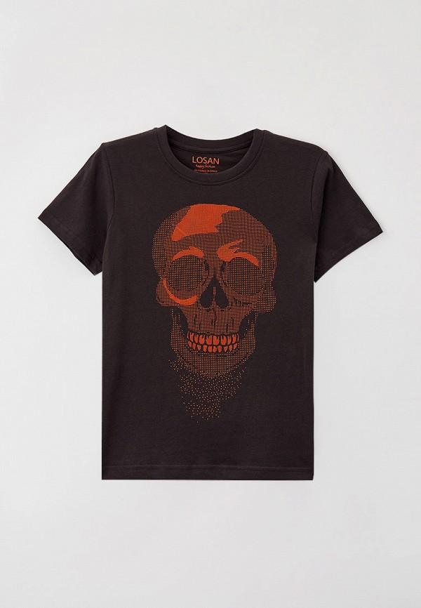 футболка с коротким рукавом losan для мальчика, черная