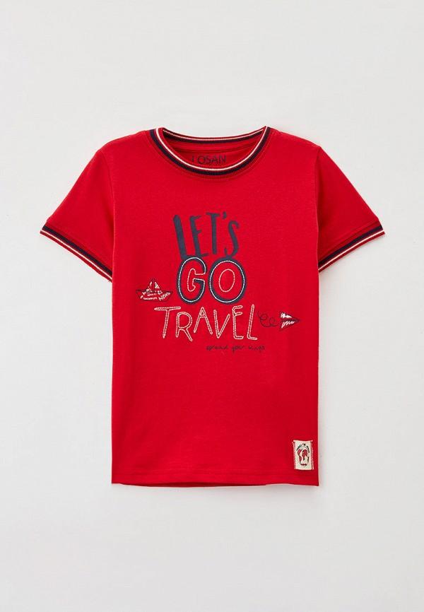 футболка с коротким рукавом losan для мальчика, красная