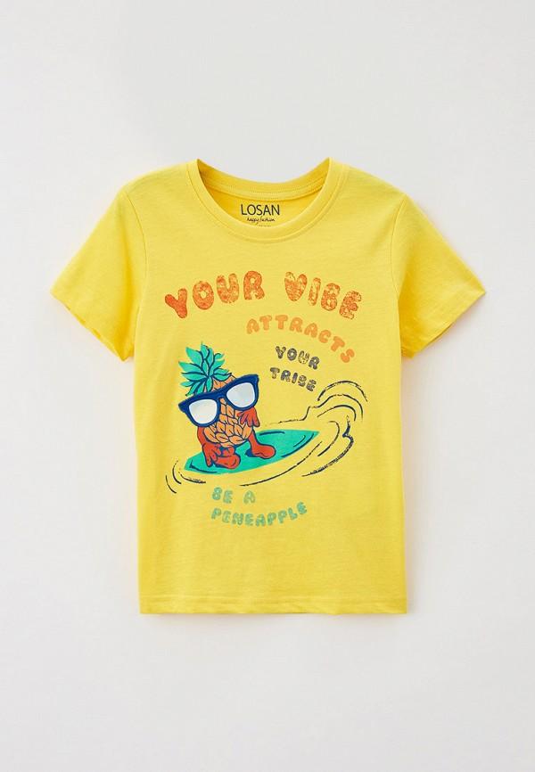 футболка с коротким рукавом losan для мальчика, желтая