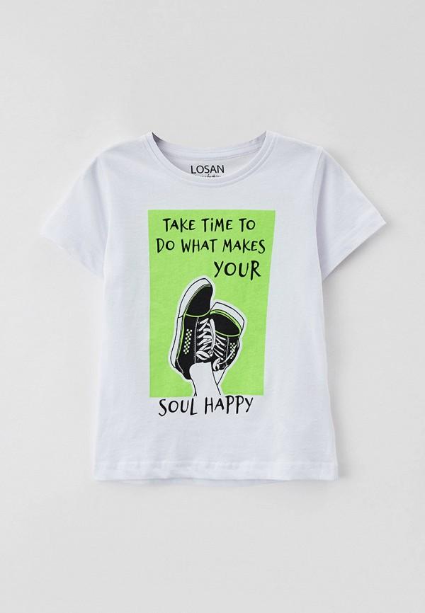 футболка с коротким рукавом losan для мальчика, белая