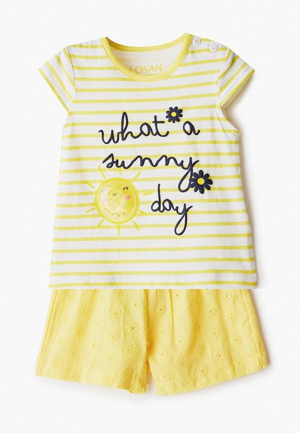 костюм losan для девочки, желтый