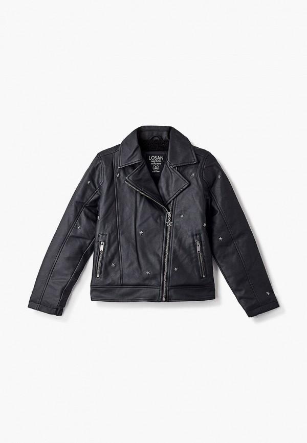 куртка losan для девочки, черная