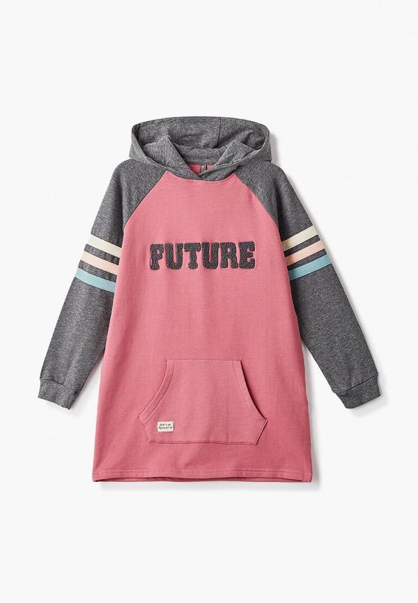 повседневные платье losan для девочки, розовое