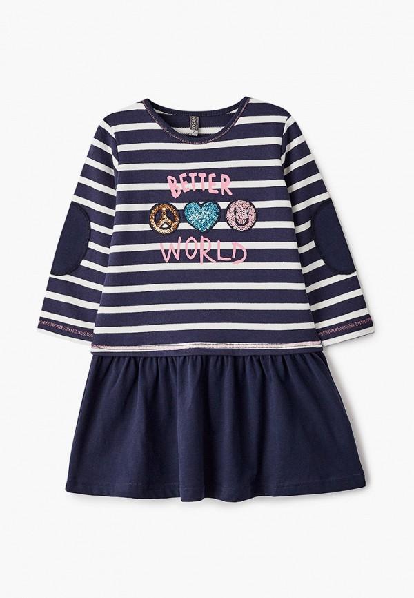 повседневные платье losan для девочки, синее