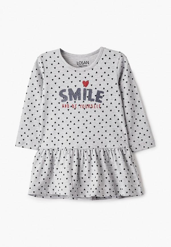 повседневные платье losan для девочки, серое