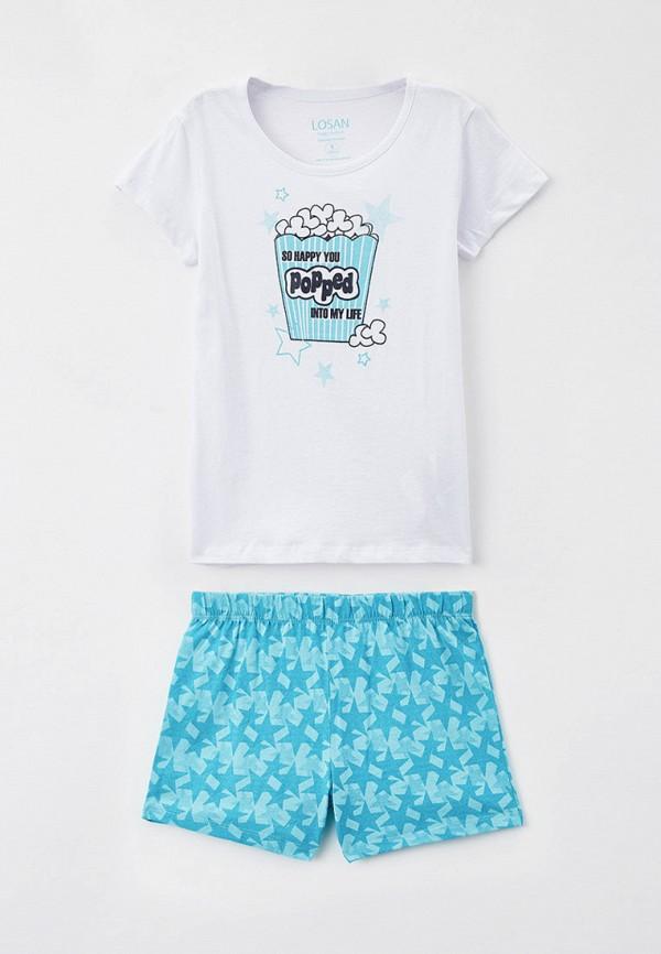 пижама losan для девочки, разноцветная