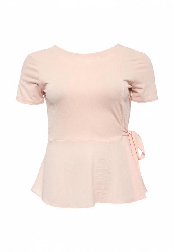 Купить Блуза LOST INK CURVE, TOP WITH WRAP & TIE, LO030EWNVT45, розовый, Осень-зима 2016/2017