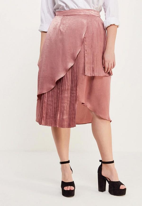 женская юбка lost ink plus, розовая