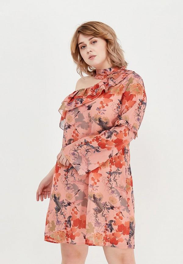 женское платье lost ink plus, оранжевое