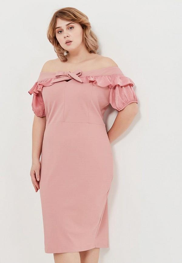 женское повседневные платье lost ink plus, розовое
