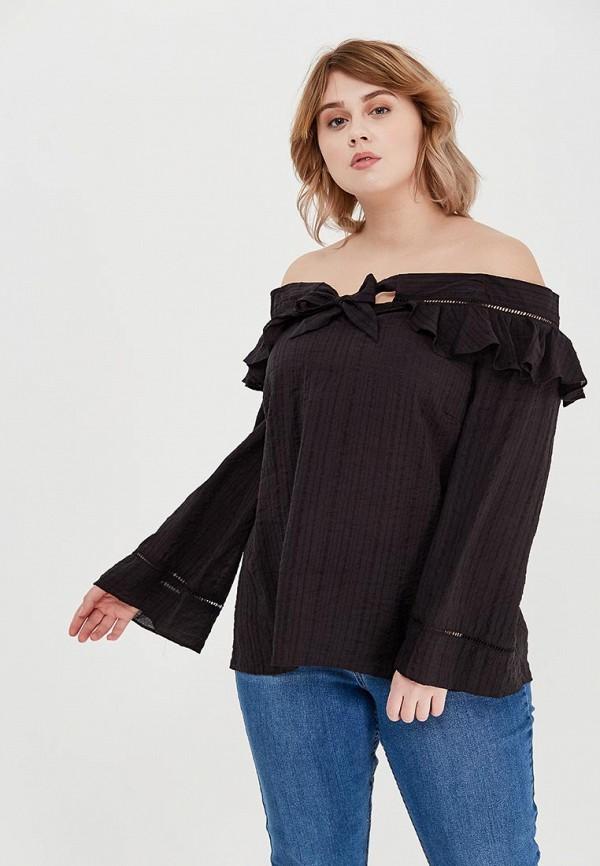 женская блузка lost ink plus, черная