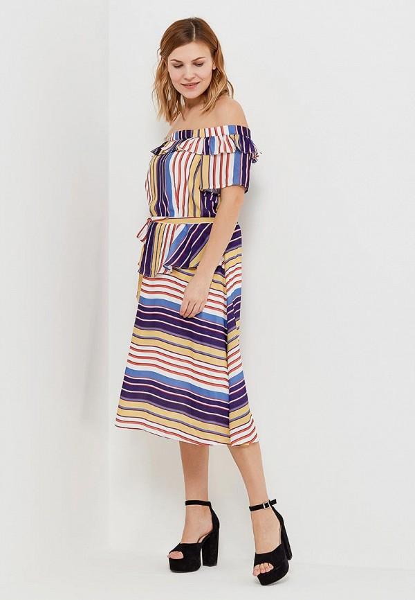 женское повседневные платье lost ink plus, разноцветное