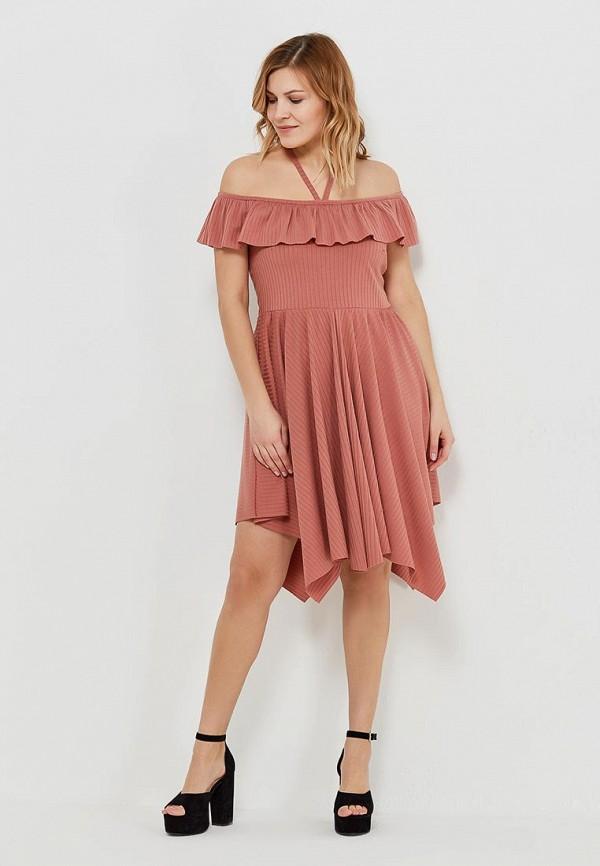женское платье lost ink plus, коричневое