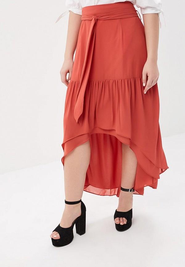 женская юбка lost ink plus, красная