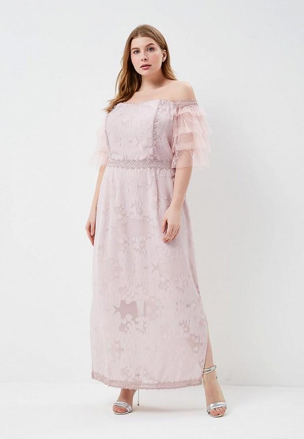 женское платье lost ink plus, розовое