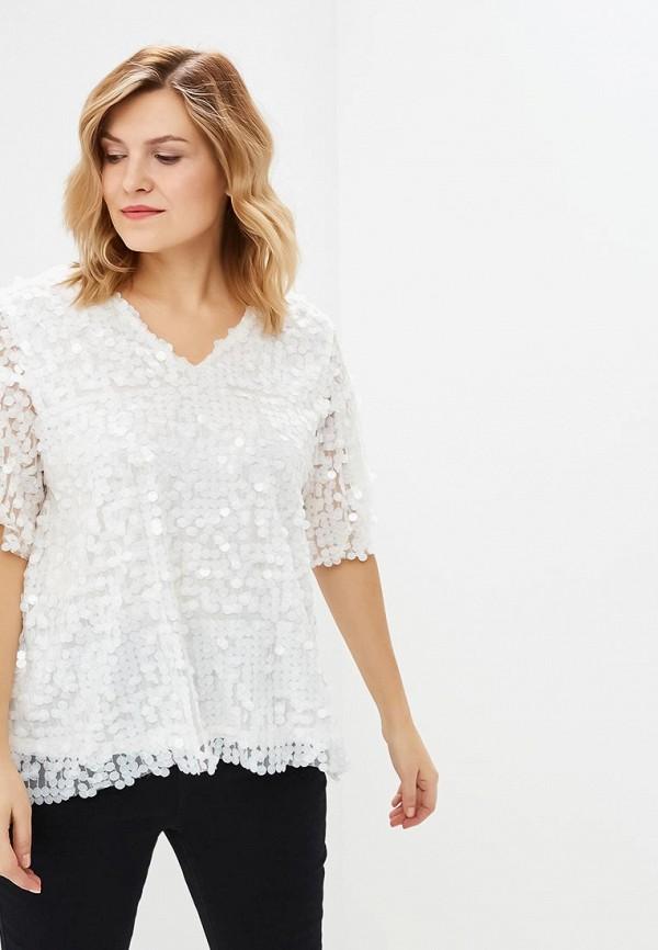 женская блузка lost ink plus, белая
