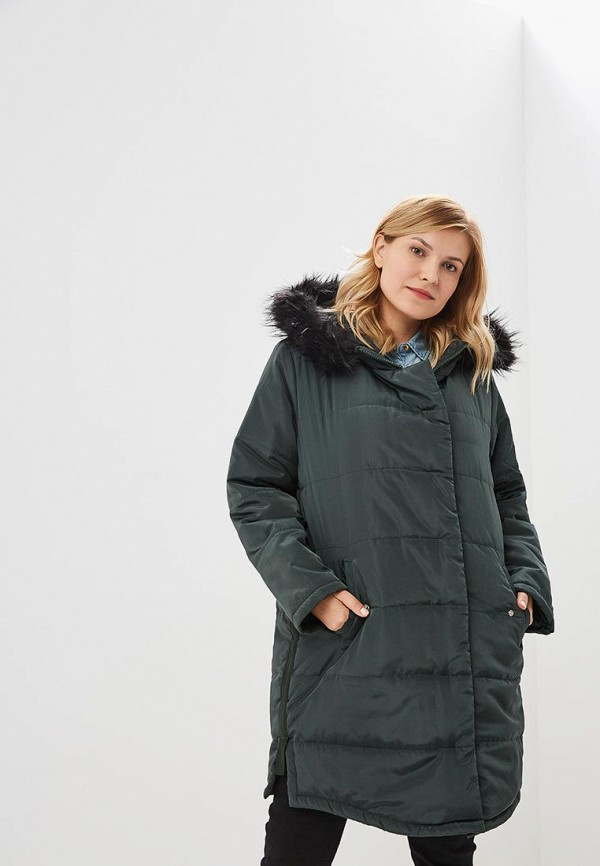 женская куртка lost ink plus, зеленая
