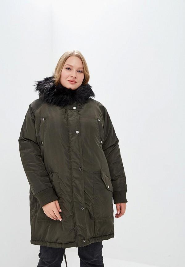женская куртка lost ink plus, хаки