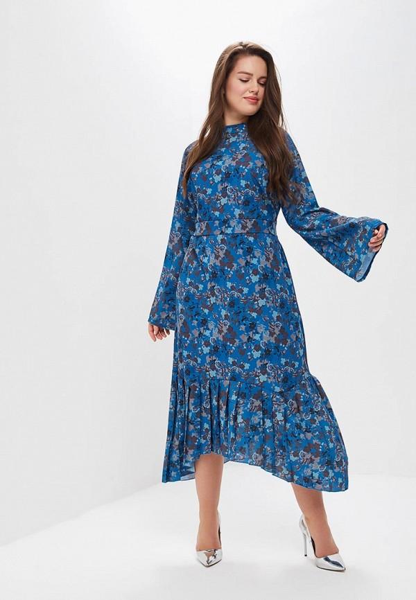 женское вечерние платье lost ink plus, синее