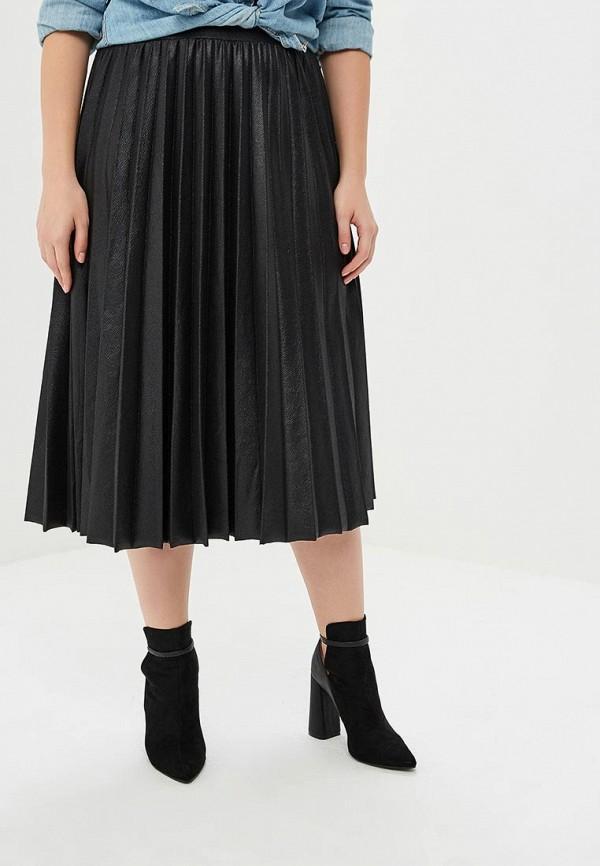 женская юбка lost ink plus, черная
