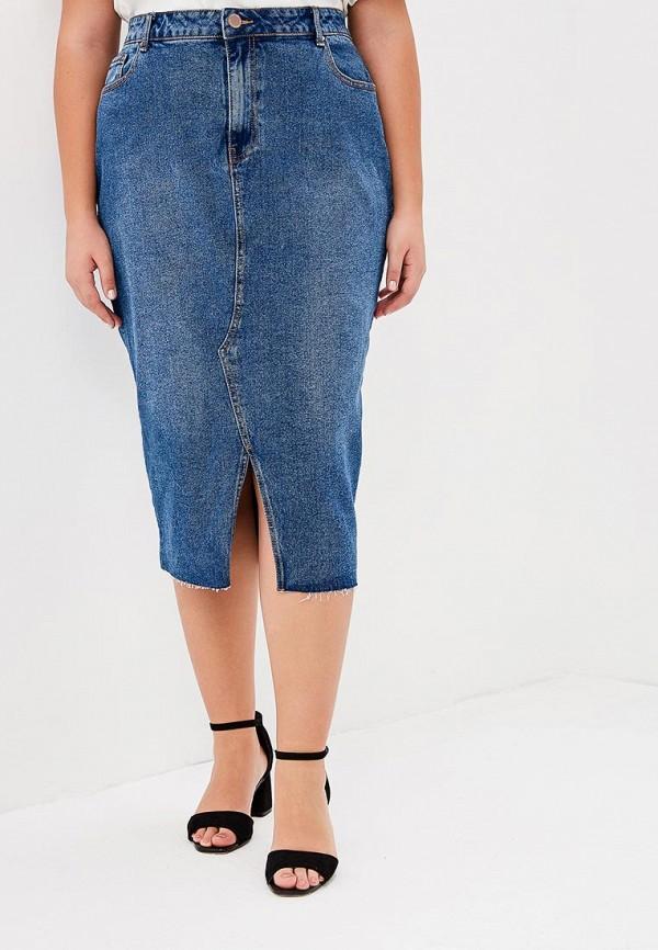 женская джинсовые юбка lost ink plus, синяя