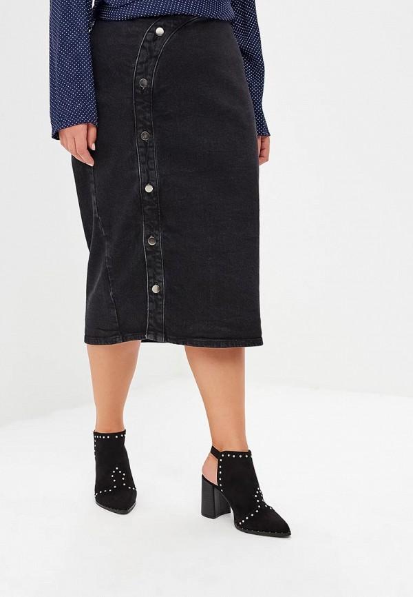 женская юбка lost ink plus, серая