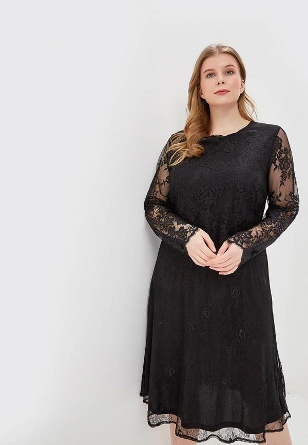 женское вечерние платье lost ink plus, черное