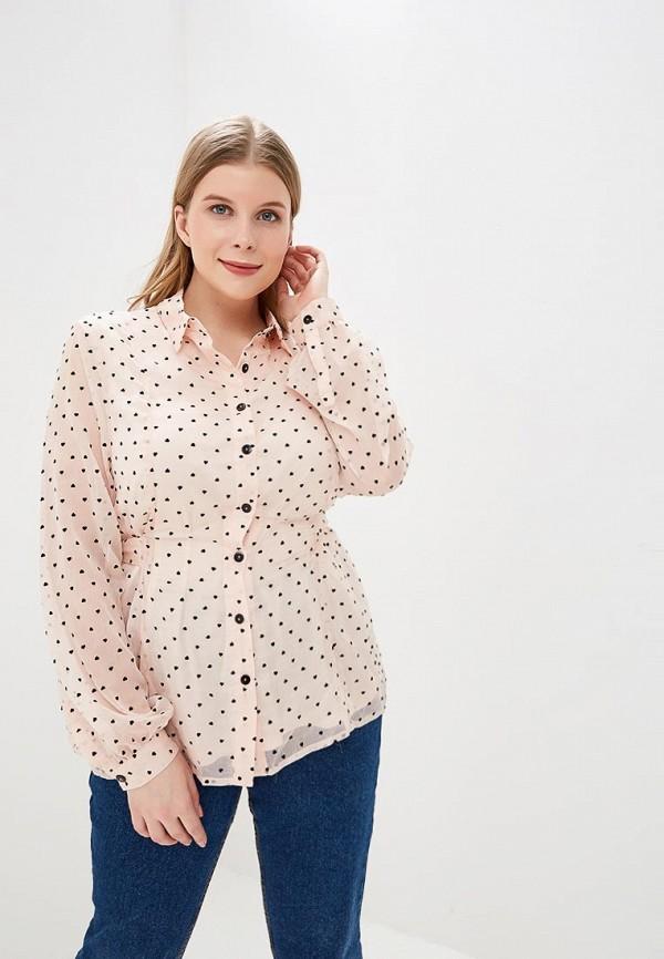 женская блузка lost ink plus, розовая