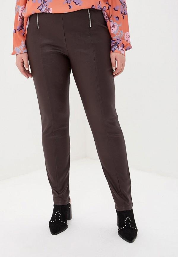 женские повседневные брюки lost ink plus, коричневые