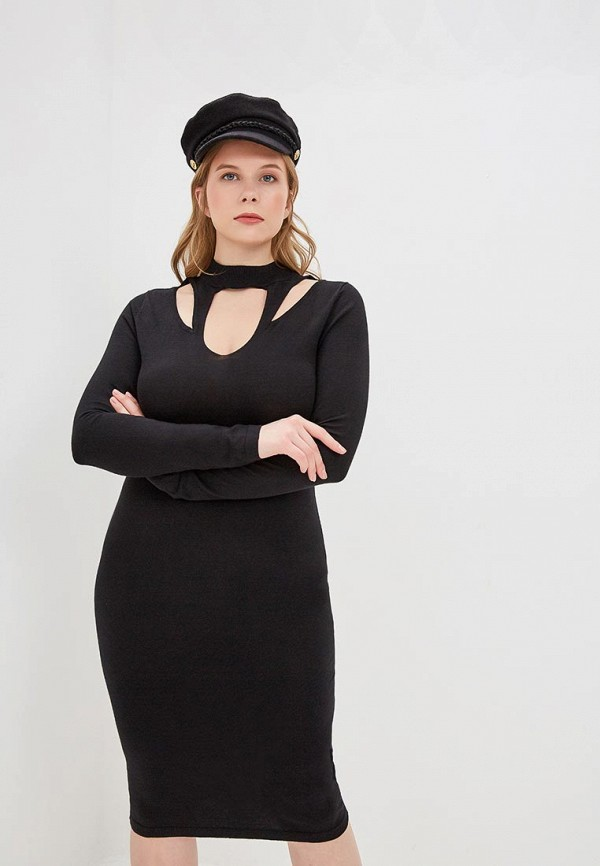 женское повседневные платье lost ink plus, черное