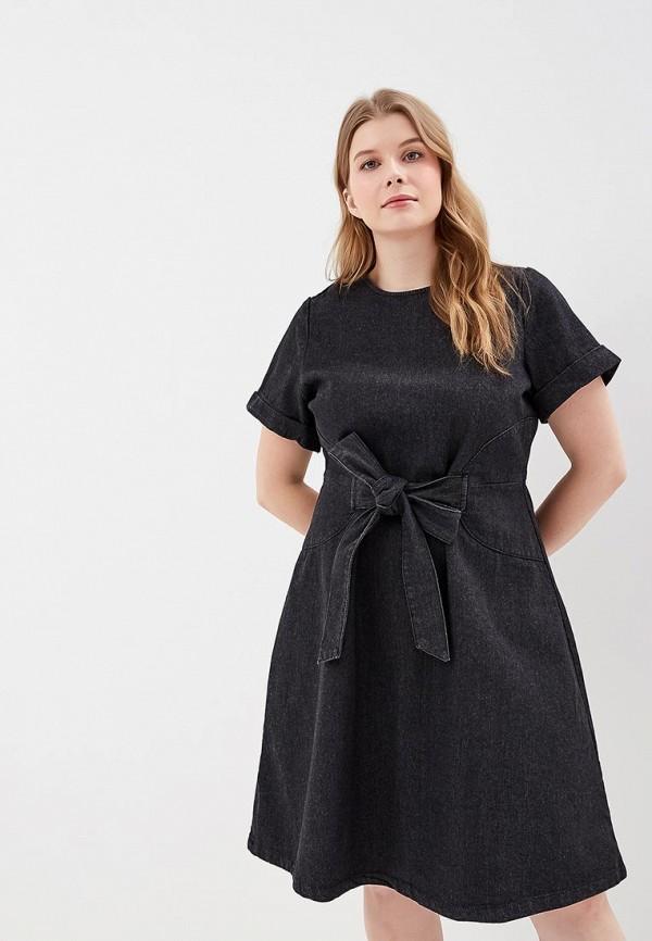 женское джинсовые платье lost ink plus, черное
