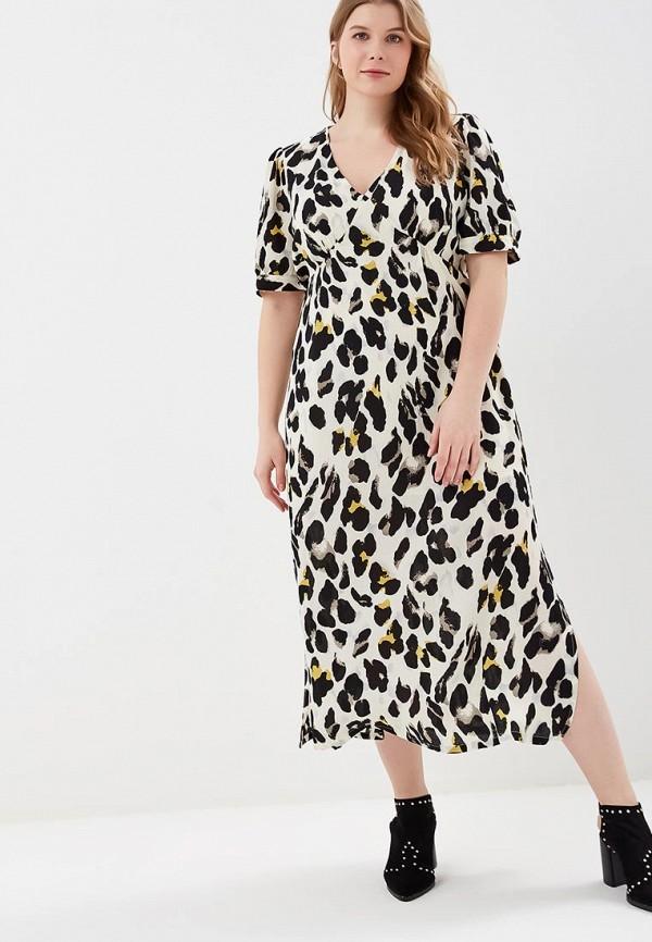женское повседневные платье lost ink plus, белое