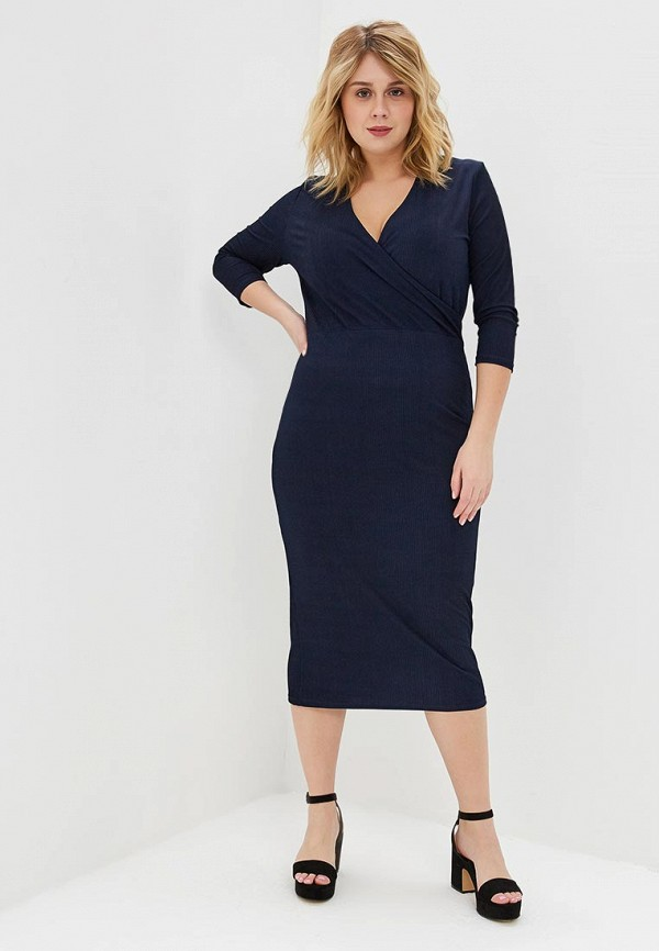 женское повседневные платье lost ink plus, синее
