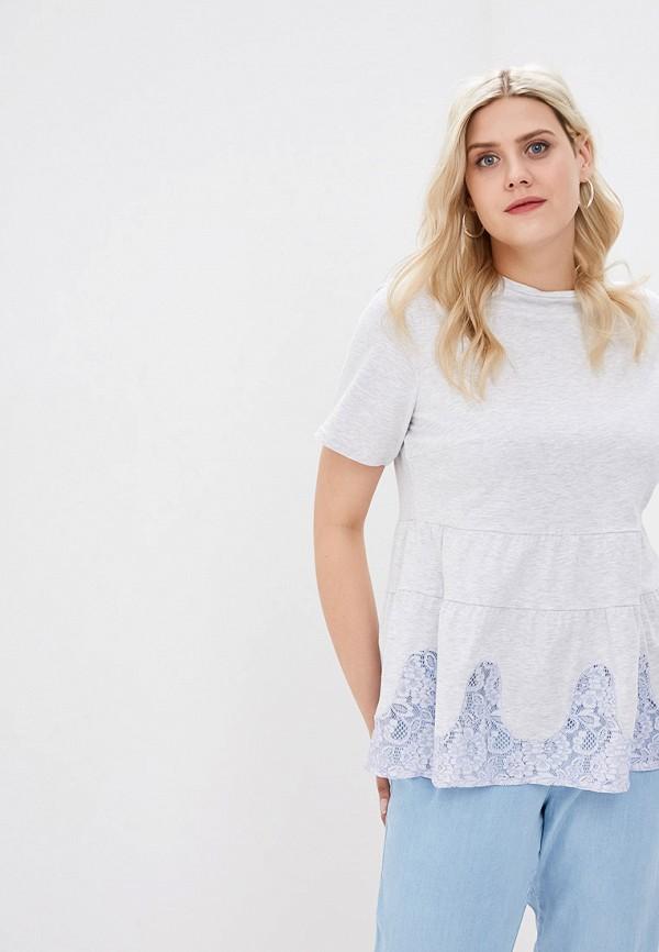 женская футболка lost ink plus, серая