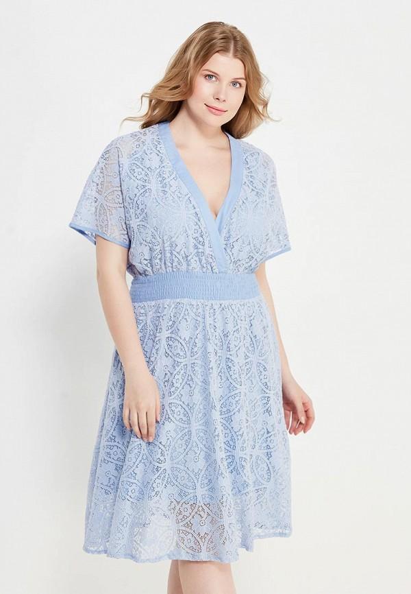Купить Платье LOST INK PLUS, KIMONO LACE SKATER DRESS, LO035EWTND29, голубой, Весна-лето 2017
