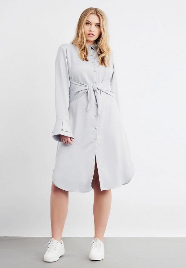 Фото 2 - Платье LOST INK PLUS серого цвета