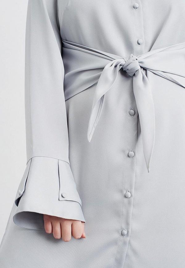 Фото 4 - Платье LOST INK PLUS серого цвета