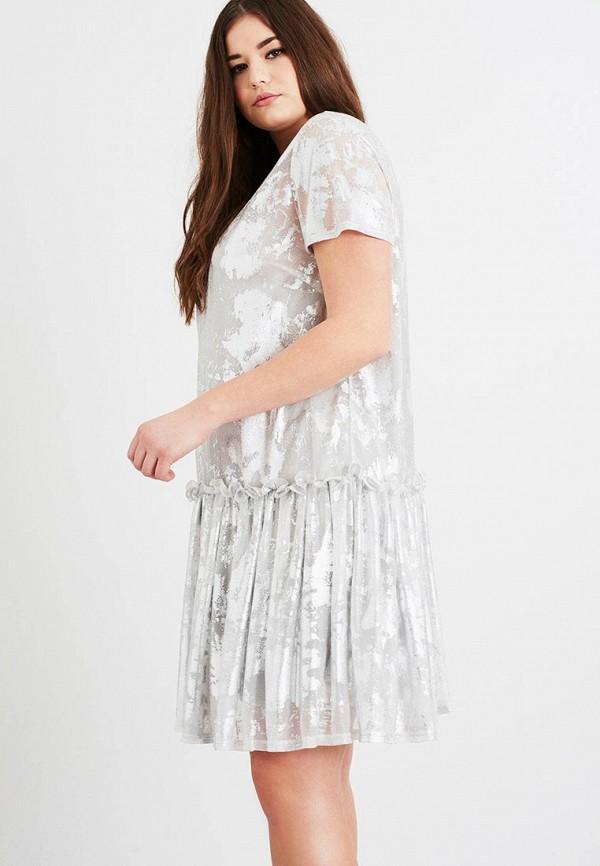 женское повседневные платье lost ink plus, серебряное