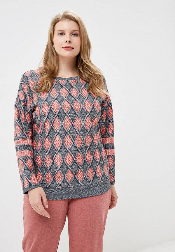 Купить Лонгслив домашний Лори, LO037EWCXXY1, серый, Осень-зима 2018/2019