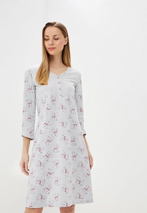 Купить Сорочка ночная Лори, lo037ewearf1, серый, Весна-лето 2019